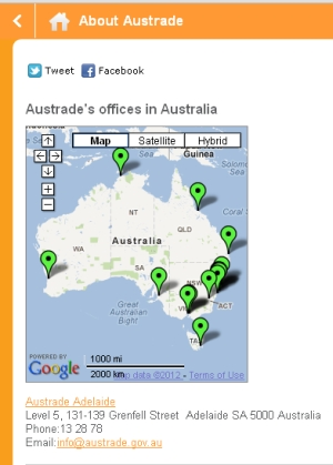 Austrade goes mobile