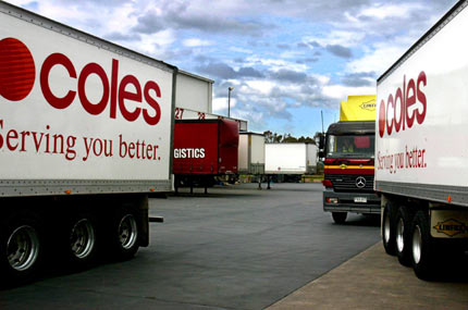 Coles has been a focus of the TWU's road transport campaign promoting 'Safe Rates'.