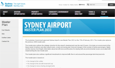 Sydney Airport sails through with its master plan