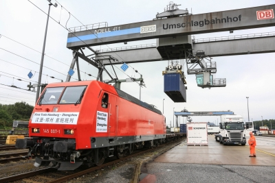 First freight train from China arrives in London