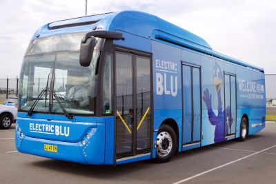 Sydney Airport unveils Australia's first electric airport bus