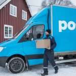 Photographer: June Witzoe. Vinter; lastbil. Source: PostNord.