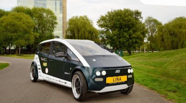 An electric car made from plants