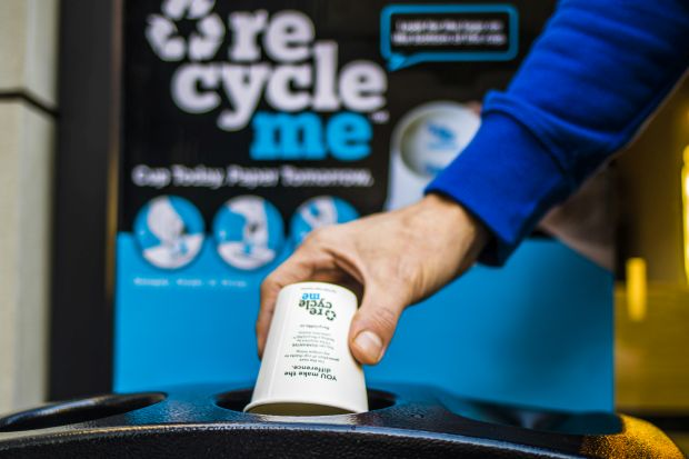 Innovative recycling system launched for takeaway cups