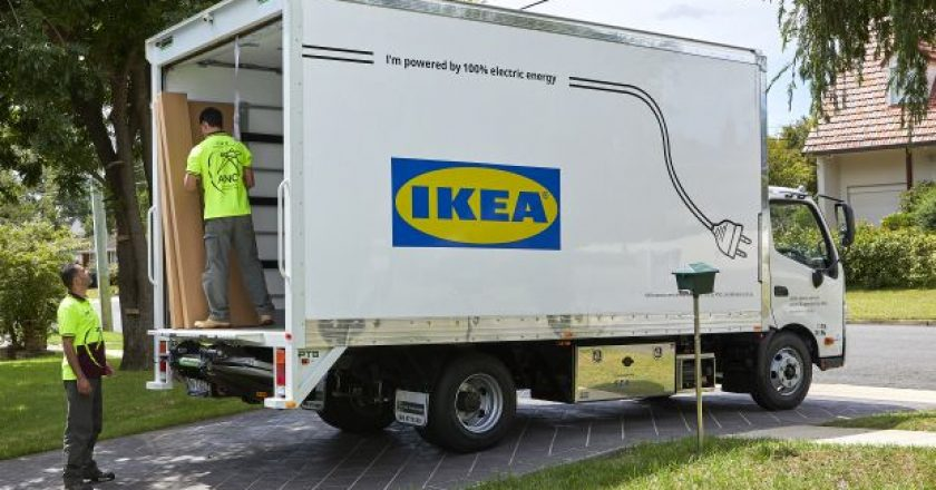 Sea electric IKEA electric truck