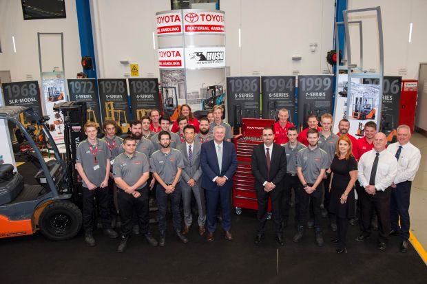 Record forklift apprentice intake for Toyota