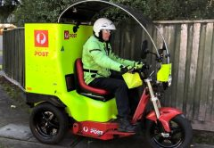 Australia Post Stealth vehicle electric trike