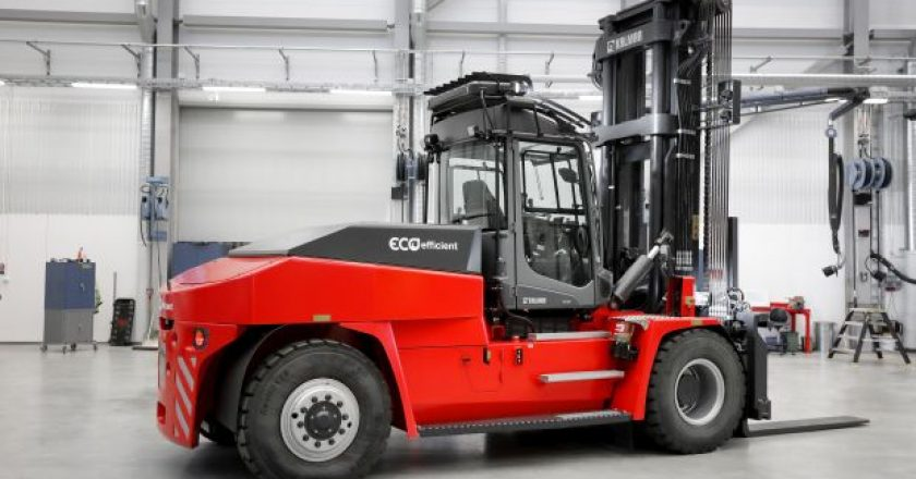 Kalmar has introduced what it claims is the industry's first lithium-ion powered medium forklift.