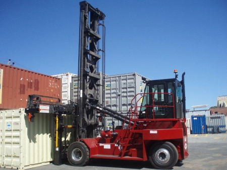 Taylor TEC 155H empty container handler in operation Australia