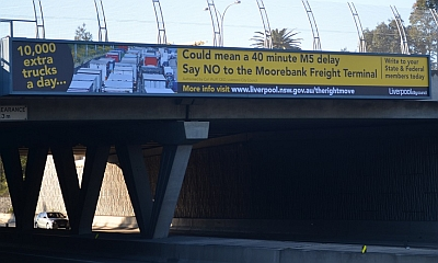 Intermodal billboard campaign is a sign of the times