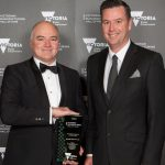 Sutton Tools Managing Director Peter Sutton with Wade Noonan MP.