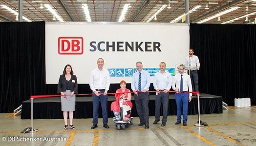 the ribbon-cutting ceremony for DB Schenker Australia's Hoxton Park facility, December 2017. Image courtesy DB Schenker.