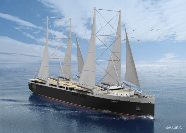 The RENAULT-NEOLINE-cargo sailing-ship sustainable supply chains transport