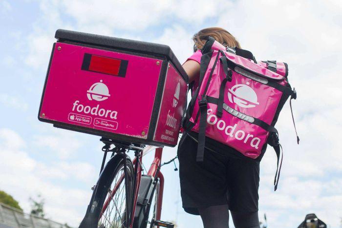 Gig economy Foodora delivery rider