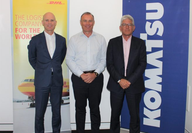 Komatsu signs deal with DHL in Australia